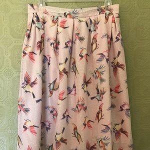 Hutch Anthropologie Bird Flare Skirt 18W